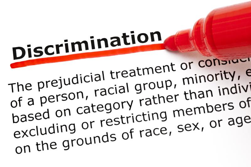Discrimination underlined in red