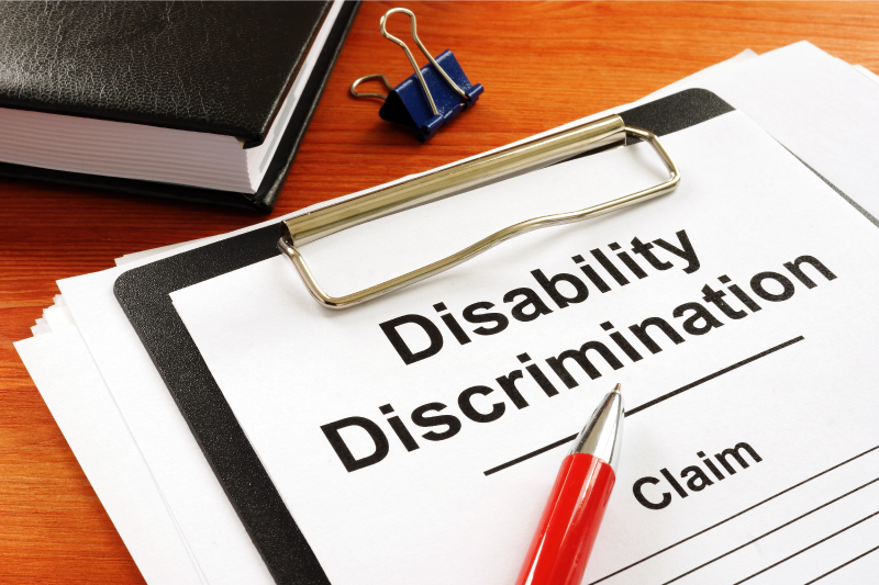 Disability discrimination claim paperwork