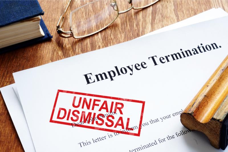 Wrongful termination claim paperwork